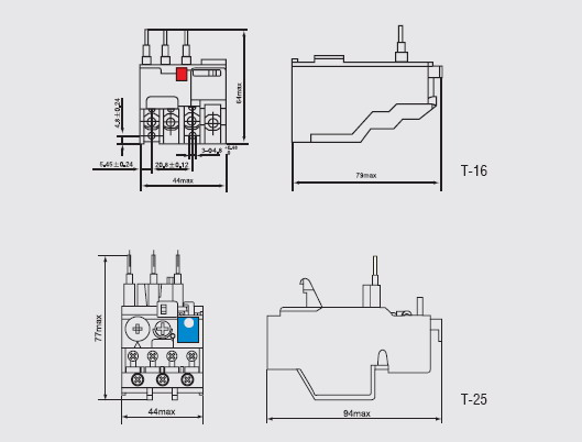 t series thermal relay products